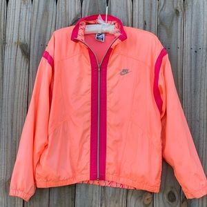Vintage Nike Elite Track Wind Jacket Peach 90s L